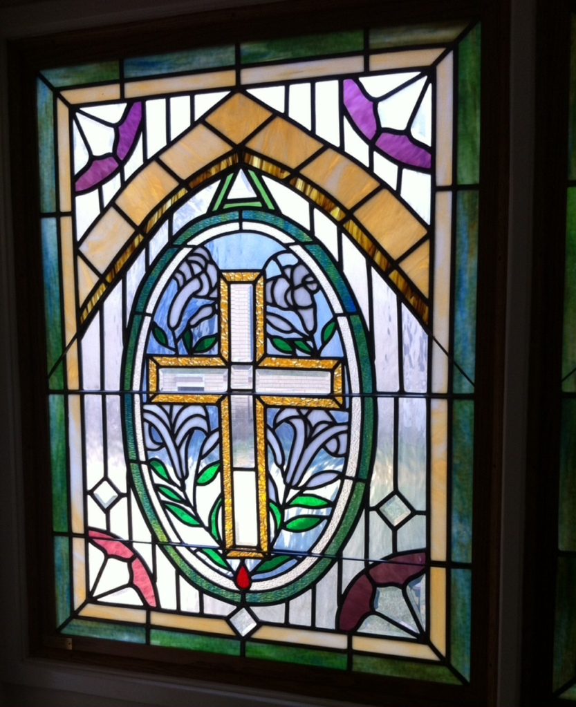 stained glass in CUMC Chapel