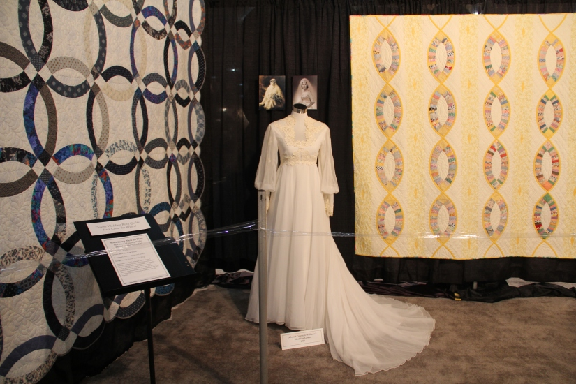 Here Come the Brides A collection of Double Wedding Ring Quilts and wedding gowns. Quilts made by Victoria Findlay Wolfe